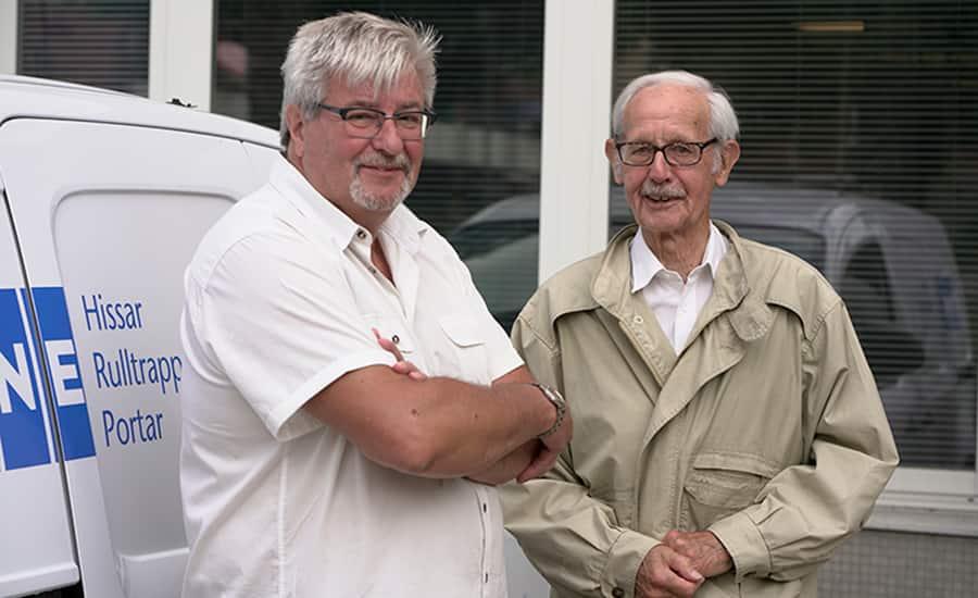 Claes-Göran Sundelin, föreningens ordförande, tillsammans med Ingvar Winell